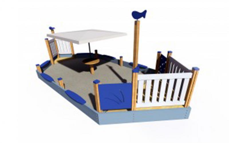 Hajó alakú homokozó