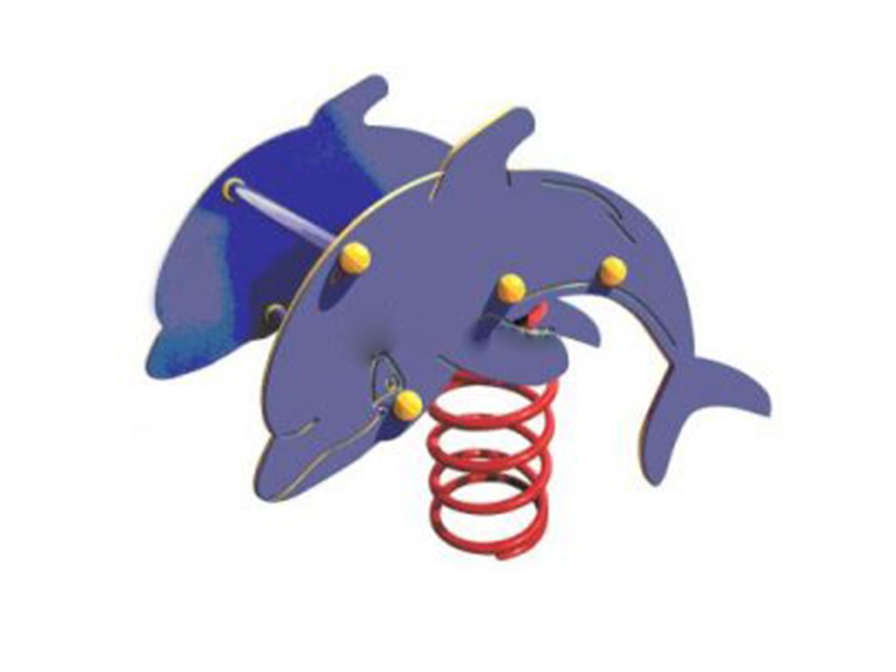 Bassic rugós játék delfin