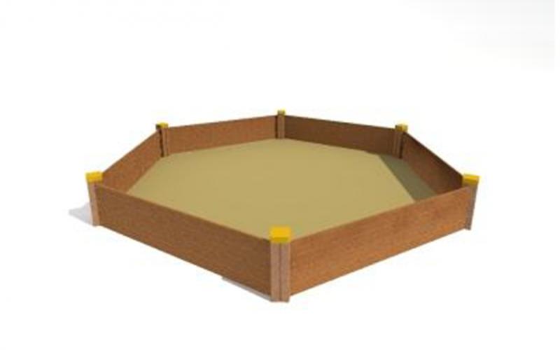 Hatszögletű homokozó