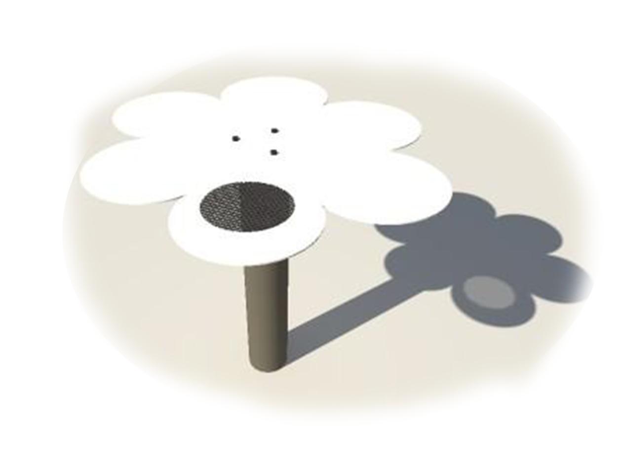 Homokozóasztal virág
