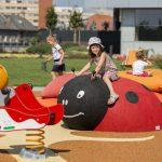 3D öntött gumi burkolatú játszótér Pozsonyban