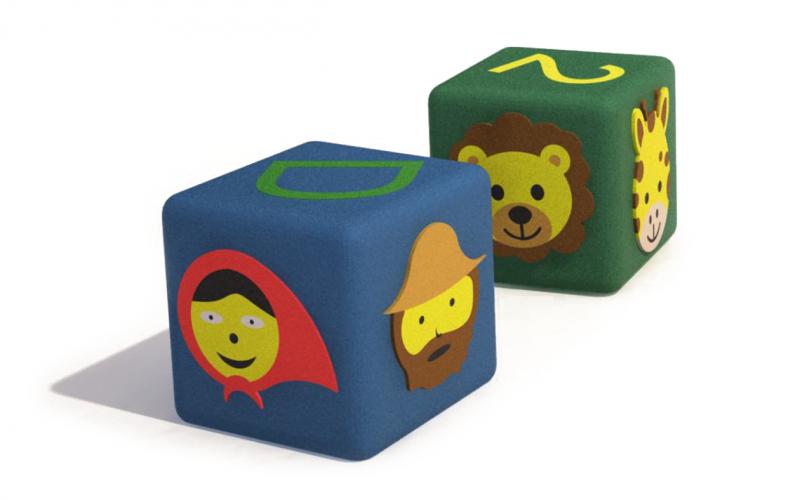 3D gumiburkolatú kocka