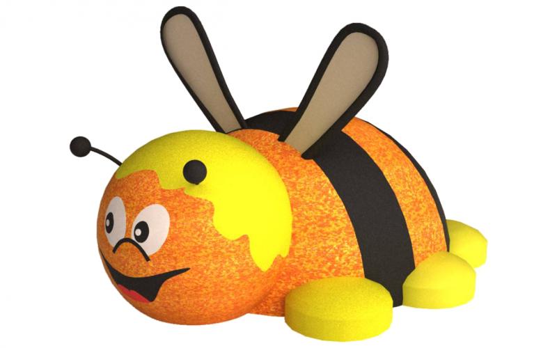 3D gumiburkolatú méhecske