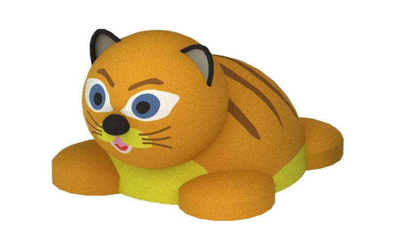 3D gumiburkolatú mini cicus