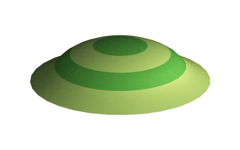 3D gumiburkolatú mini domb