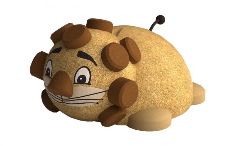 3D gumiburkolatú oroszlán