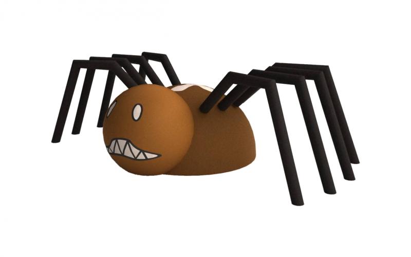 3D gumiburkolatú pók